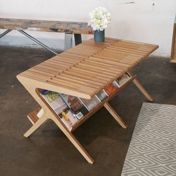 mid century coffee table shown in baltic birch plywood tableplywood furniturefurniture ideasfurniture