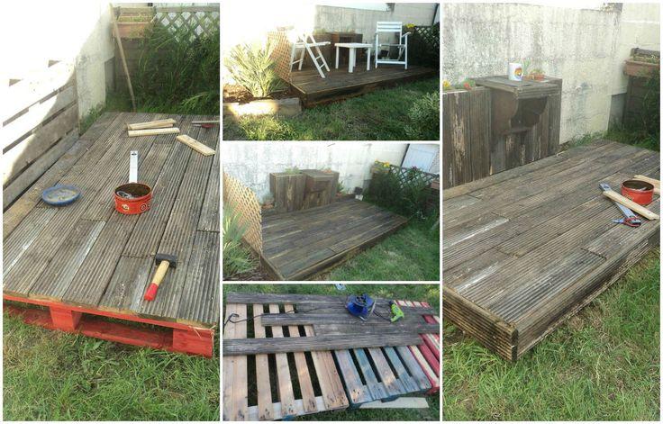 100% Récup, Pallets Terrace #Garden, #Pallets, #Recycled, #Terrace