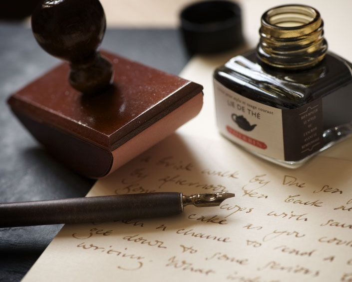 """Pen to Paper, beautiful Paper and Ink Supply store in Brighton , stockist of my favourite fountain pen ink called """" Herbin ink """""""