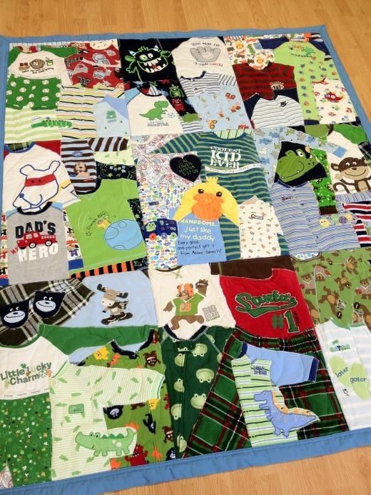 Baby clothes to quilt