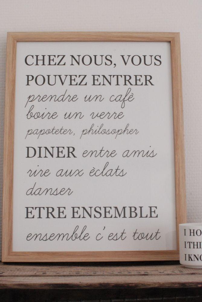 """Image of Affiche """"Chez nous..."""" """" Ensemble , c'est tout """" est aussi un livre d'Ana Gavalda ."""