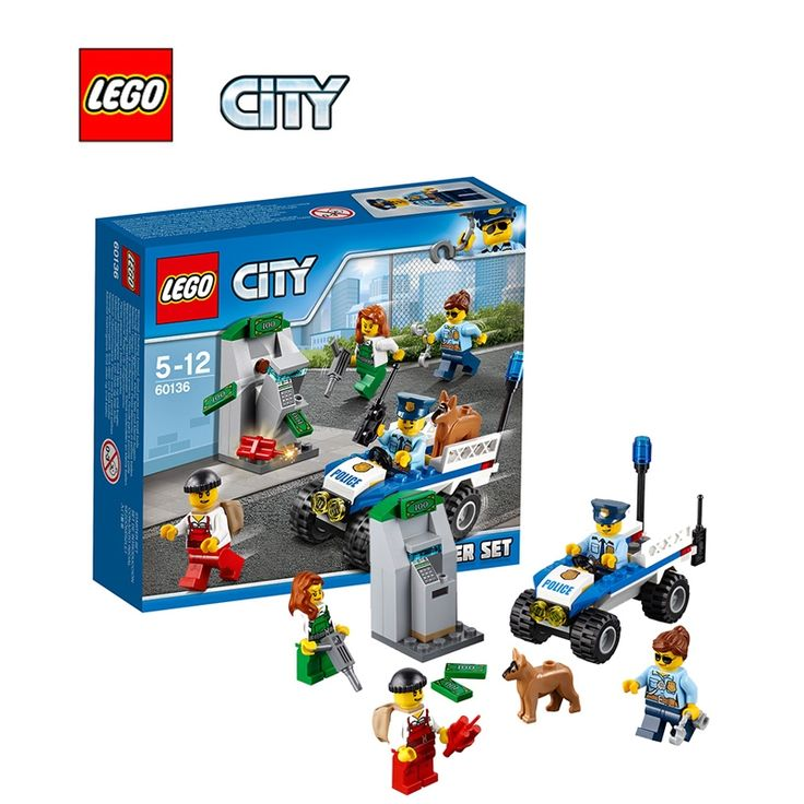 17.85$  Watch here - http://aliky8.shopchina.info/go.php?t=32804096007 - LEGO City Police Starter Set Architecture Building Blocks Model Kit Plate Educational Toys For Children LEGC60136 17.85$ #buyonlinewebsite