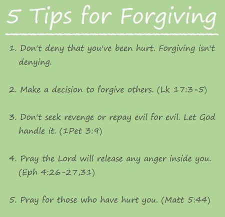 5 Tips For Forgiving Others - great truth!!