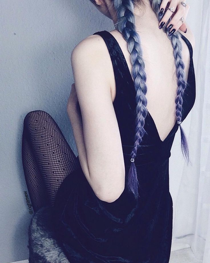 "5,928 Likes, 54 Comments - Sara 🥀 (@rightmew) on Instagram: ""Boob touching on the internet 🤷🏼‍♀️✨💜 • • • • • #hair #braids #longhair #longhairdontcare…"""
