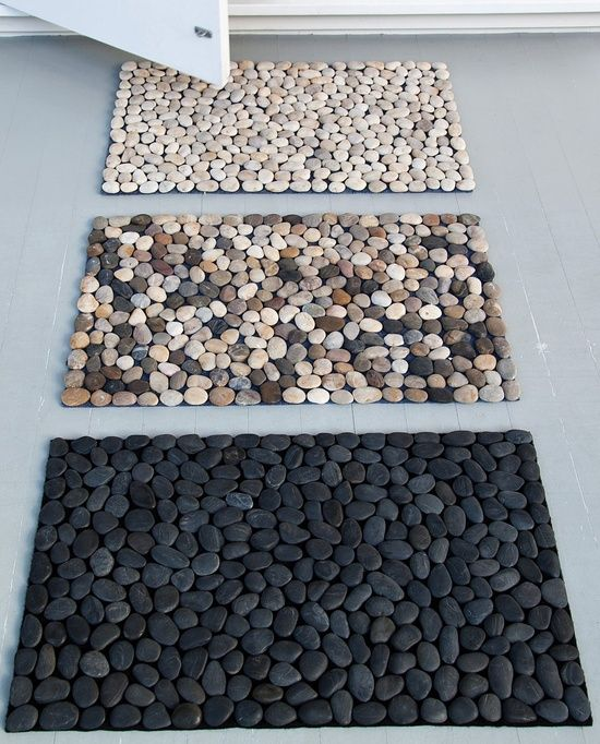 Capacho de pedras genial ideas pinterest piedras for Pataka bano food mat