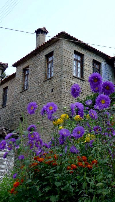Stone village house.. Konitsa, Epirus, Greece