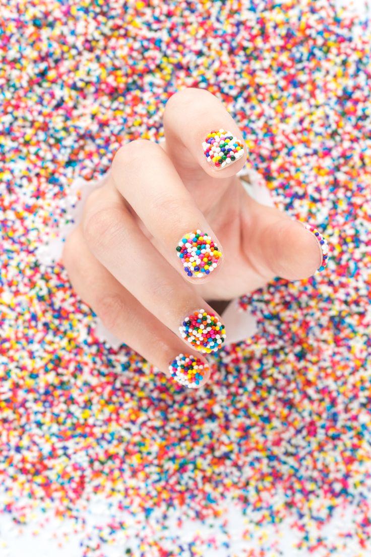 DIY Sprinkle Nails