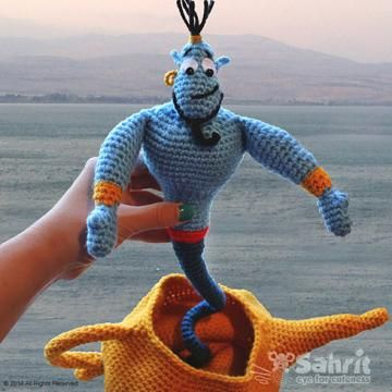 Genie and the lamp amigurumi pattern by Sahrit