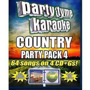 Party Tyme Karaoke: Country Party Pack, Vol. 4 (4CD)