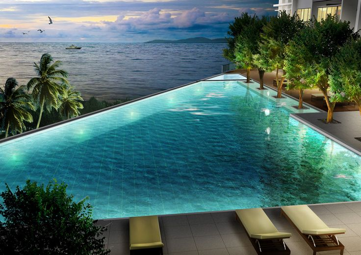 Swim in an infinity edge pool somewhere with epic scenery. Bonus points if sunset/night happens as part of that. Amazing infinity edge pool