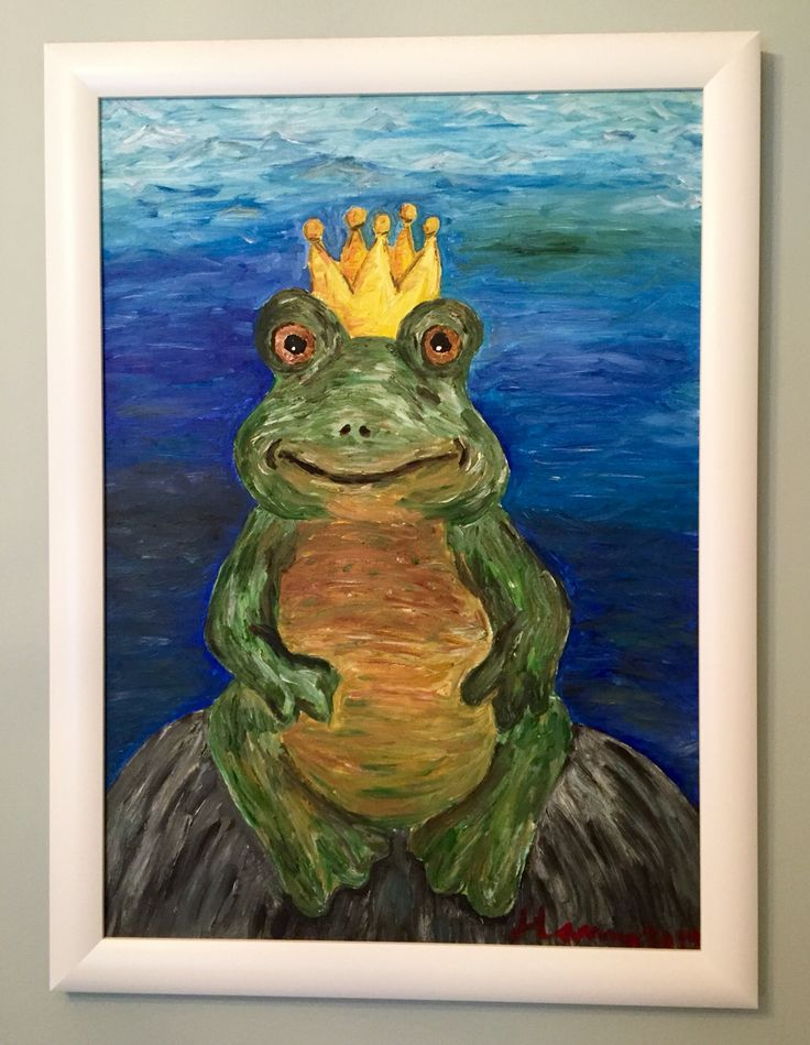 Frog prince painting by me.