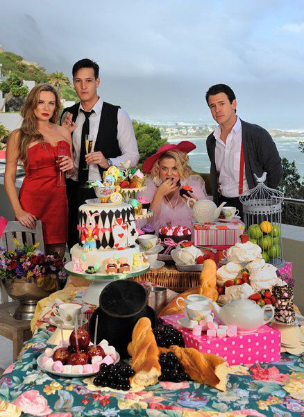 Sugar Cakes Mad Hatters cake, cover Get It magazine shoot