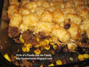 Taco Tater Tot Casserole #recipe