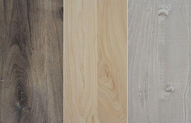 Os padrões Celtic Oak, Castanho e Vintage da nova linha da Eucafloor (Foto: Divulgação)