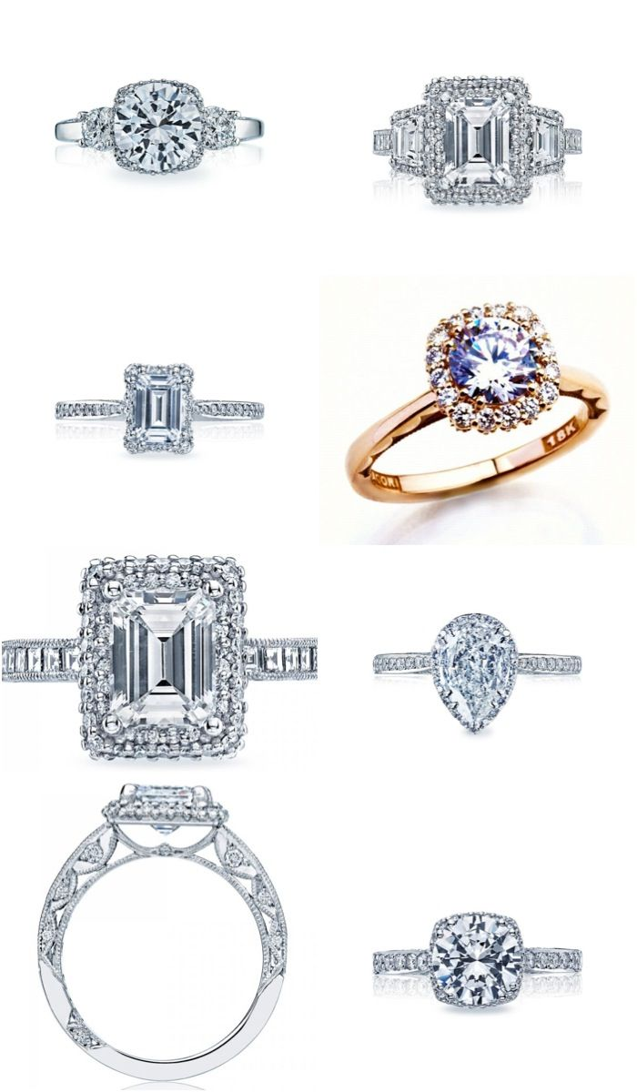 Get Inspired: Sophisticated Tacori Engagement Rings via ModWedding