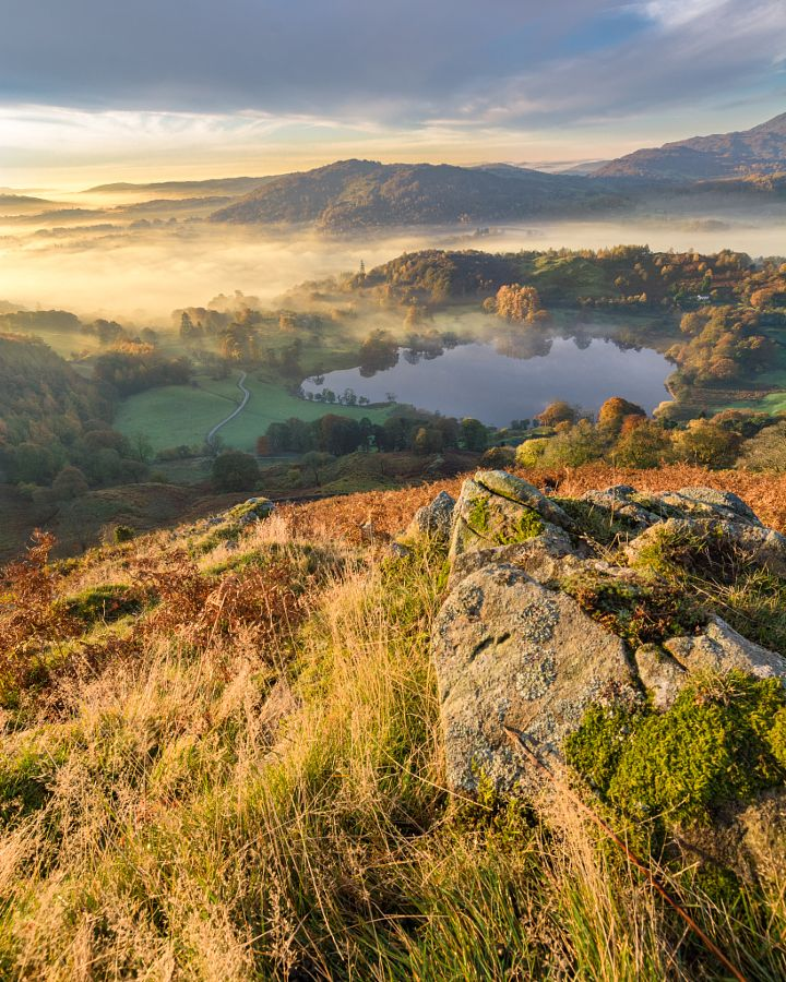 Morning Mist Over Loughrigg Tarn (Lake District, England) by Daniel Kay - 500px