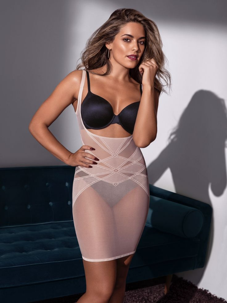 Olympia Valance wears the Sheer Decadence Underbust Slip... a fusion of delicate lingerie and powerful shapewear; blurring the lines to offer functional shaping lingerie.