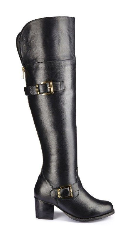 Catwalk Collection Over-the-Knee Boots, $120 | 36 Gorgeous Boots For Women With Wide Calves