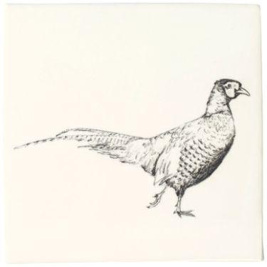 Pheasant - Woodland Animals - Wall & Floor Tiles    Fired Earth