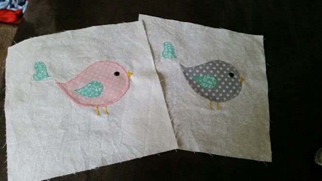 Birdies for cot blanket