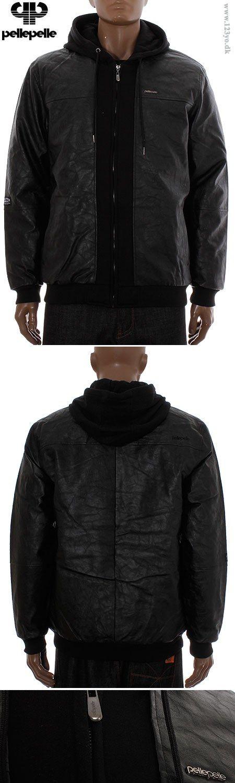 PELLE PELLE mix-up hooded jakke