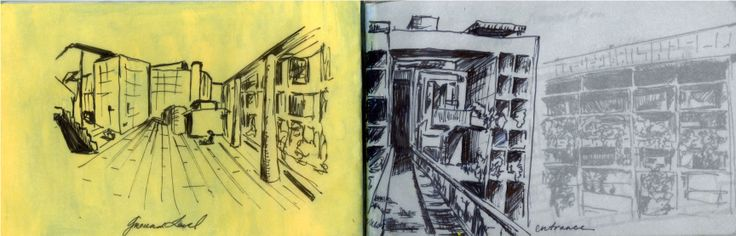 MILL OWNER'S CORBUSIER AHMEDABAD, INDIA. Ink on Paper by Ray Garraffa