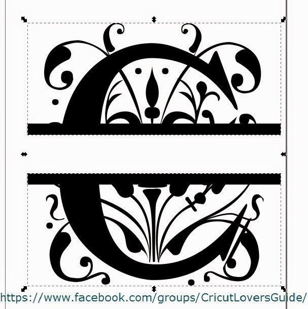 The Non-Crafty Crafter - Using Inkscape to create a Split Letter monogram SVG to be imported into Design Space.