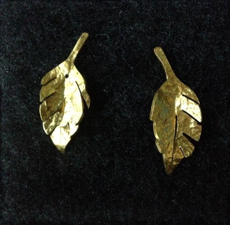 Aretas Hojitas - baño en oro $30000