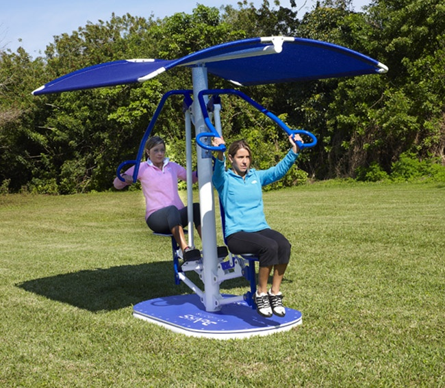 Shade Attachment for Outdoor Fitness Equipment by BYO