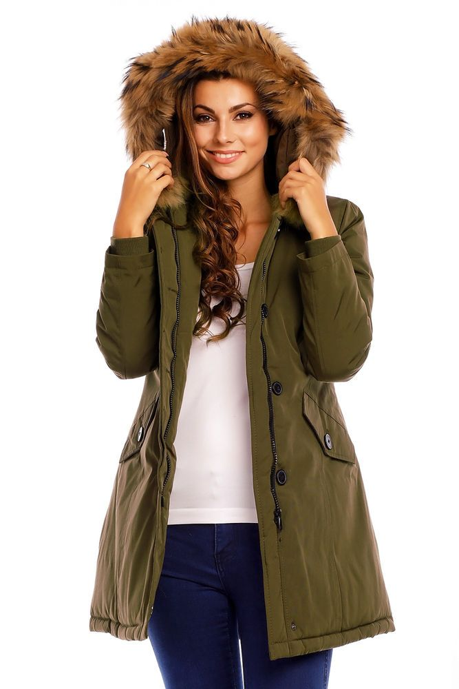 6c028ac654143 Attentif Paris Real Fur Parka Coat Khaki Size 36 (UK 8) SA172 ii 01  fashion   clothing  shoes  accessories  womensclothing  coatsjacketsvests (ebay link)