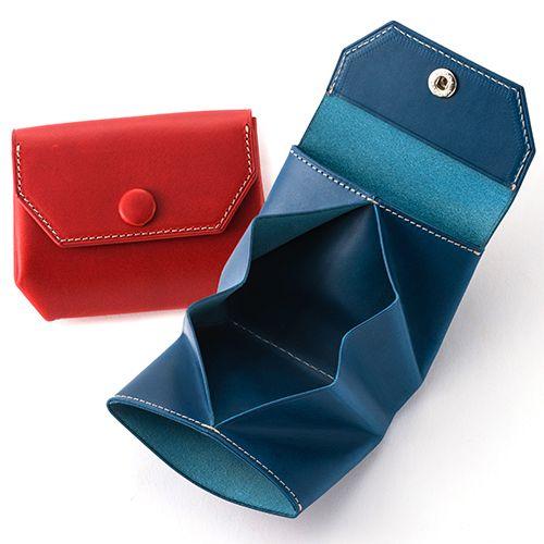 【ATELIER Hab(アトリエハブ)】折り畳み財布の商品紹介ページです。小さくても収納力は抜群! 大きく開く小銭入れが使いやすい、12色から選べるレザー革財布です。