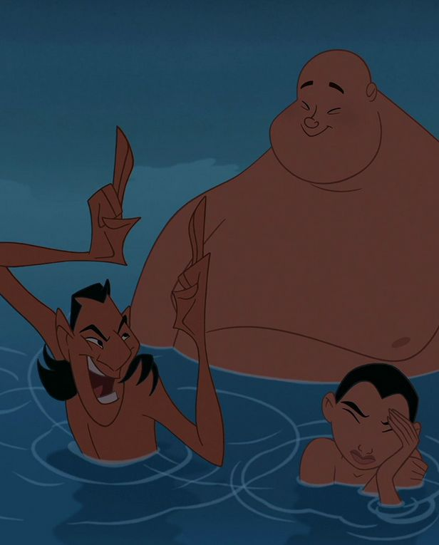 Ling: Oh yeah, well I think Ping and I can take you. Mulan (as Ping:) I really don't want to take him anywhere.
