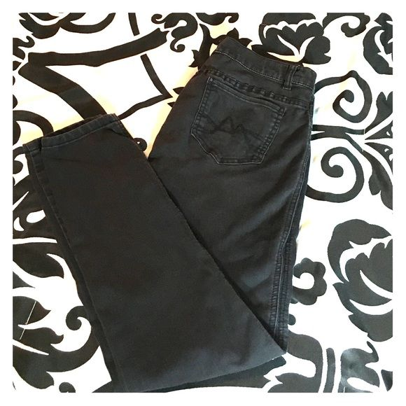NY&Company Black Jean Leggings Black distressed Jean legging in size six. Very good condition... A bit stretched out but that's all. New York & Company Pants Leggings