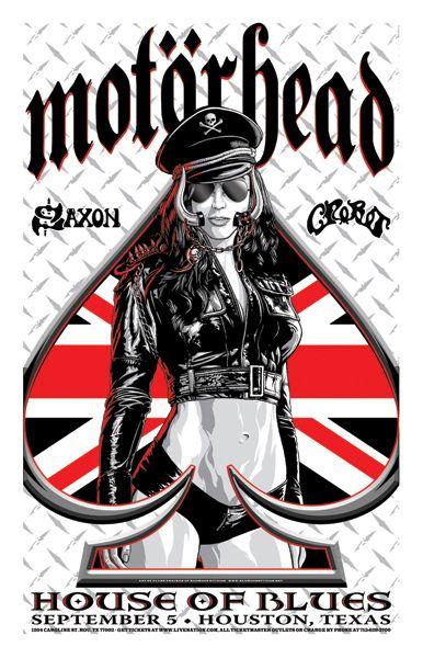 MOTORHEAD - Crobot - Saxon By Flynn Prejean 2015 House Of Blues Houston TX USA