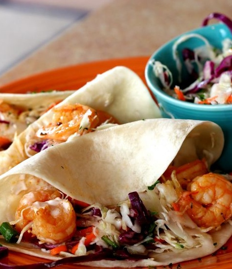 Must repin!  Skinny Shrimp Tacos for dinner:)