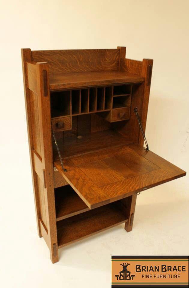 Brian Brace Fine Furniture   Stickley No.518 Desk   Craftsman   Bungalow