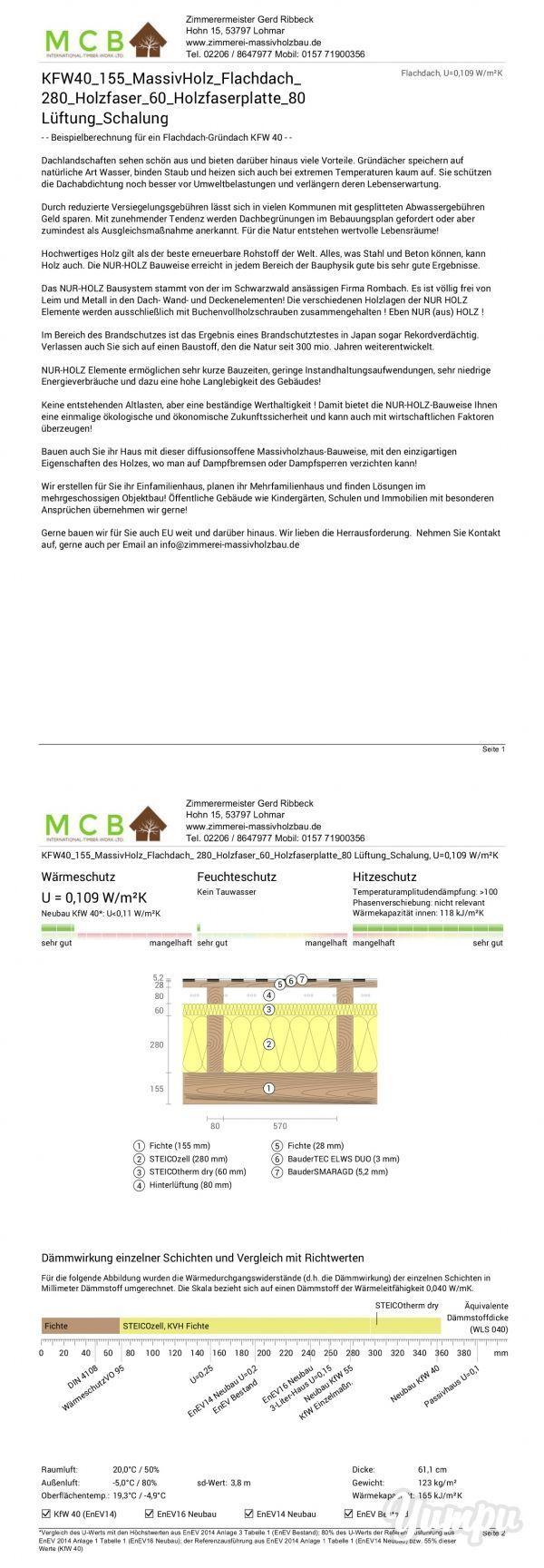 Holzbau flachdach detail  164 besten MCB Massivholzhaus - Vollholzhaus HolzBau Bilder auf ...