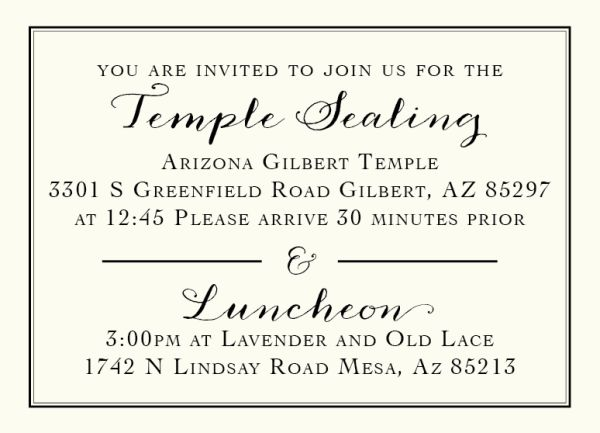 lds wedding invitation wording sealing 28 images lds family