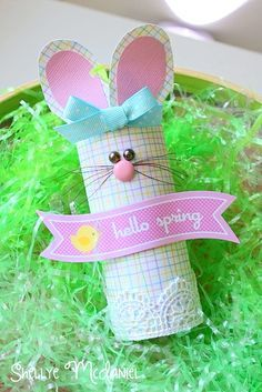 Toilet Paper Roll Bunny, Mrs. Hop! Created with Doodlebug Designs' Hello Spring Collection   apparel