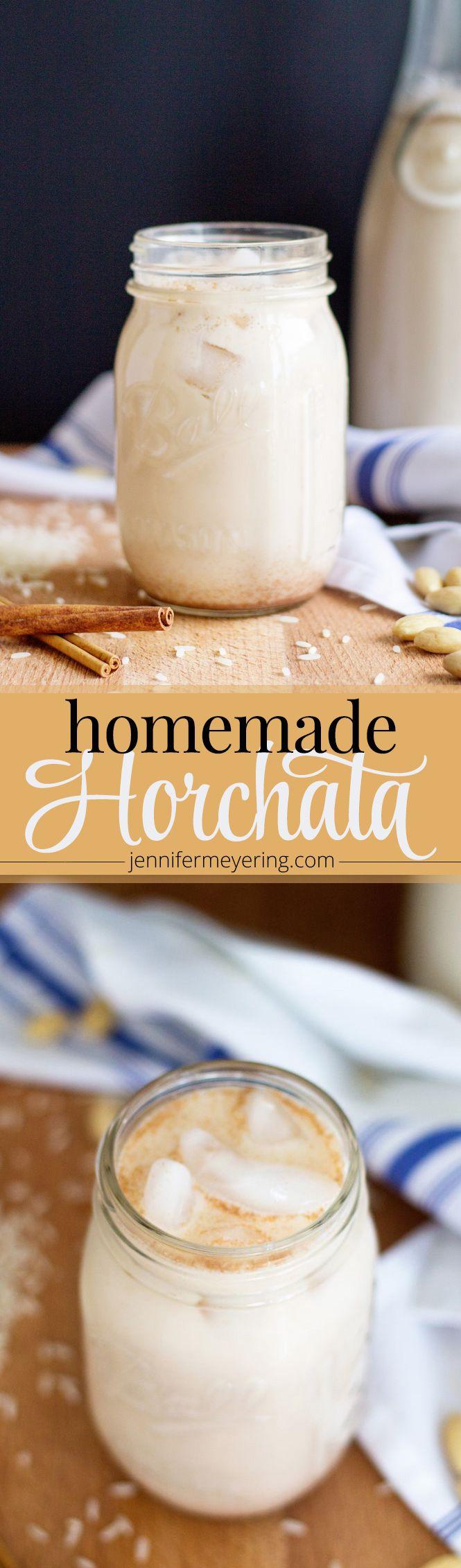 Homemade Horchata | JenniferMeyering.com                                                                                                                                                      More