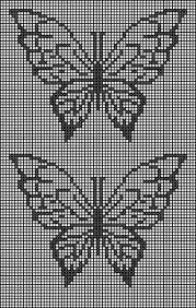 Resultado de imagem para trilhos de croche com borboletas