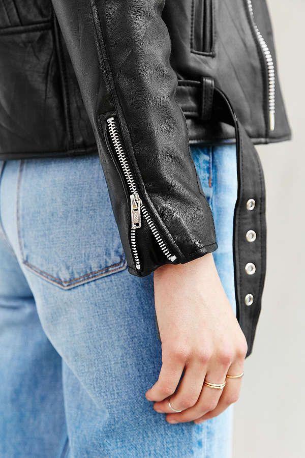 Slide View: 3: PeleCheCoco Leather Moto Jacket