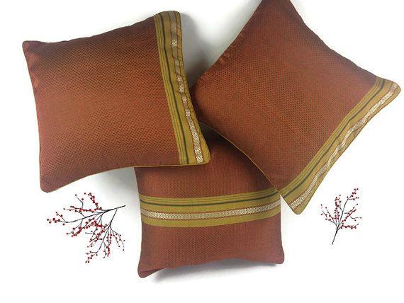 Bohemian Pillow, Brown Pillow, 16X16 Pillow, Rust Pillow, Bright Decor Pillow, Couch Pillow, Autumn Decor, Sofa Pillow Cover, Pillow Sham