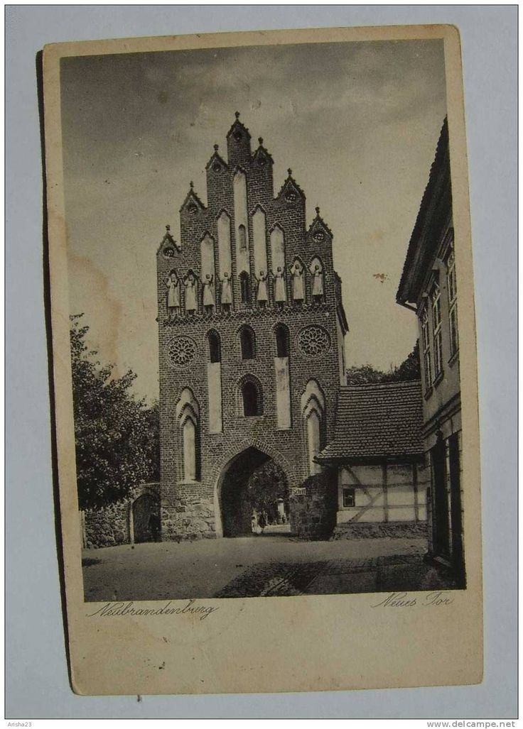 Germany, Neubrandenburg - Neues Tor - 1936 - real photo postcard - Emil Borowy