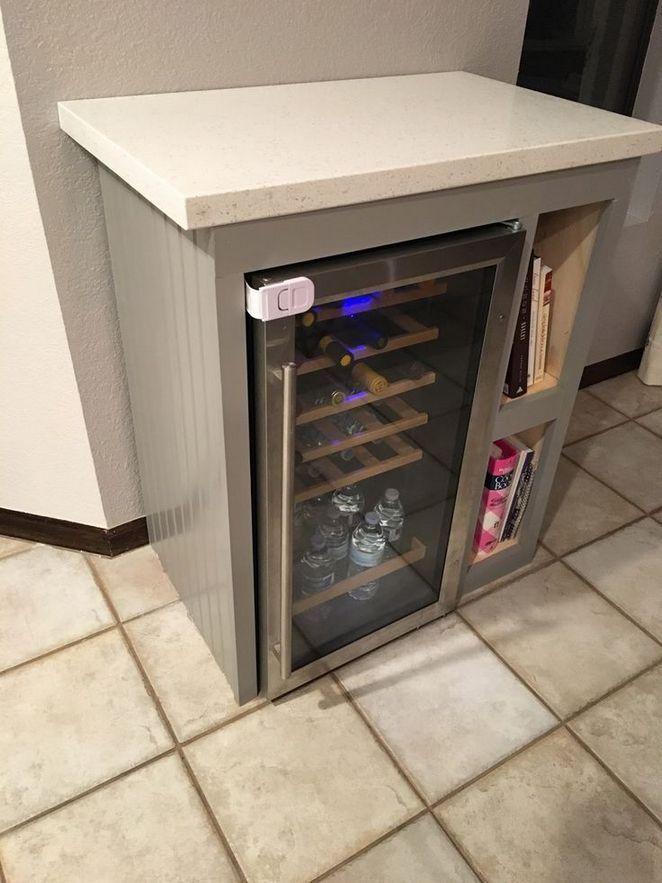 45 Beverage Fridge Cabinet Help Wine Fridge Cabinet Beverage Fridge Diy Cabinets