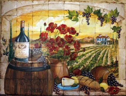 Mural Tiles For Kitchen Decor 10 Best Kitchen Decorating Images On Pinterest  Tile Murals