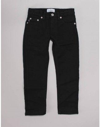 Stone Island Junior Black 5 Pocket Denim Pants