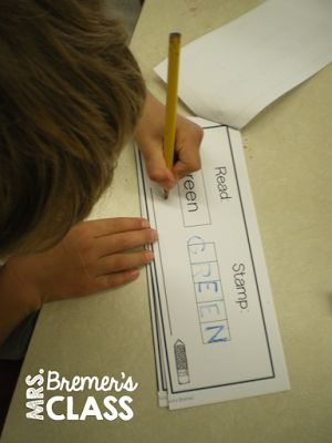 Read It! Stamp It! Write It!- literacy center booklets to practice sight words…