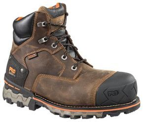 Timberland PRO Boondock Waterproof Safety Toe Work Boots for Men - Fox Brown - 11.5 W