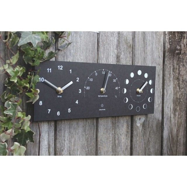 Ashortwalk Eco Moon Phase, Clock and Thermometer